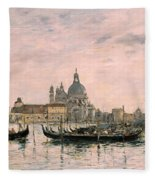 Santa Maria Della Salute And The Dogana Fleece Blanket