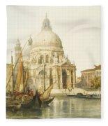 Santa Maria Della Salute Fleece Blanket