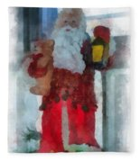 Santa Merry Christmas Photo Art 02 Fleece Blanket