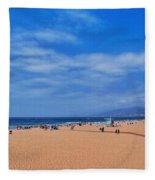Santa Monica Beach California Fleece Blanket