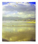 Santa Monica Beach Fleece Blanket