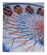 Santa Monica Pier Ferris Wheel At Dusk Fleece Blanket