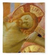 Santa Trinita Altarpiece Fleece Blanket