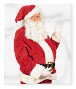Santa Waving Fleece Blanket