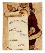 Santa Wishes Digital Art Fleece Blanket