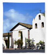 Santa Ynez Mission Solvang California Fleece Blanket