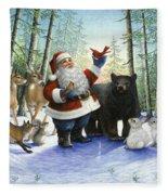 Santa's Christmas Morning Fleece Blanket