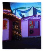 Santa's Grotto In The Winter Gardens Bournemouth Fleece Blanket
