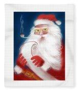 Santa's List Fleece Blanket