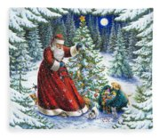 Santa's Little Helpers Fleece Blanket