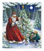 Santa's Little Helpers Fleece Blanket