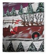 Santa's Truckload Fleece Blanket