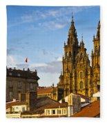 Santiago De Compostela Cathedral Galicia Spain Fleece Blanket