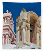 Santorini Bell Towers Fleece Blanket