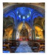 Santorini Cathedral  Fleece Blanket