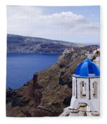Santorini Panorama 2 Fleece Blanket