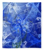 Sapphire In Blue Lace Fleece Blanket