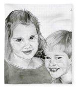 Sarah And Matt Fleece Blanket