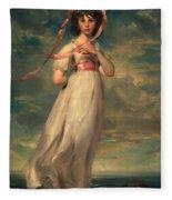 Sarah Goodwin Barrett Moulton Pinie 1794 Fleece Blanket