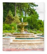 Sarah Lee Baker Perennial Garden 5 Fleece Blanket