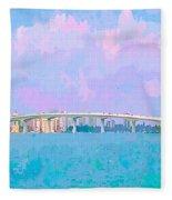 Sarasota Via Ringling Bridge Fleece Blanket