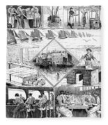 Sardine Fishery, 1880 Fleece Blanket