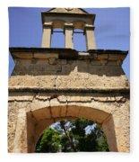 Sassia Monastery Bell Tower Fleece Blanket