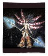 Satari God Of War And Battles Fleece Blanket