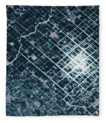 Satellite View Of Fields In Sonora Fleece Blanket