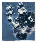 Satellite View Of Montserrat Island Fleece Blanket