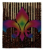 Satin Lily Symbol Digital Painting Fleece Blanket