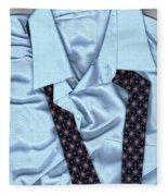 Saturday Morning - Men's Fashion Art By Sharon Cummings  Fleece Blanket
