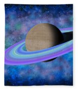 Saturn Journey Fleece Blanket
