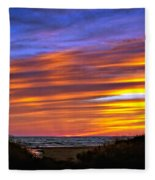 Sauble Sunset Fleece Blanket