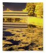 Saucks Bridge - Pond Fleece Blanket
