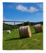 Sauertalbrucke Fleece Blanket