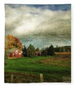 Sauvie Island Farm Fleece Blanket