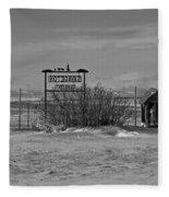 Savageton Cemetery  Wyoming Fleece Blanket