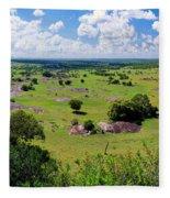 Savanna Landscape In Serengeti Fleece Blanket