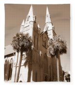 Savannah Sepia - Methodist Church Fleece Blanket