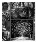 Savannah Shadows Collage Fleece Blanket