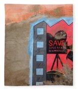 Save Cinema In Morocco Fleece Blanket