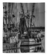 Save The Lowcountry Shrimping  Fleece Blanket
