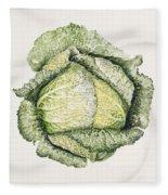 Savoy Cabbage  Fleece Blanket