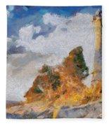 Savudrija Lighthouse Fleece Blanket