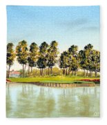 Sawgrass Tpc Golf Course 17th Hole Fleece Blanket