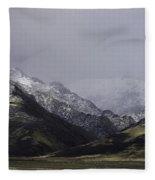 Sawtooth Mist Fleece Blanket