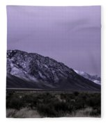 Sawtooth Mountain In December Fleece Blanket