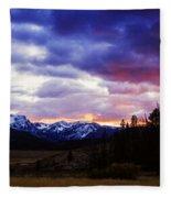 Sawtooth Sunset Panorama Fleece Blanket
