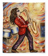 Sax Man Fleece Blanket
